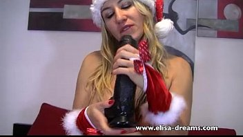 Santa Claus woman likes huge black dick