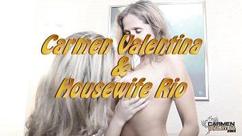 Horny Hotwife Rio And Carmen Valentina Licking Pussy