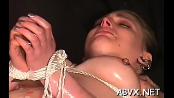 Neat dilettante hotties hard sex in bondage extreme show