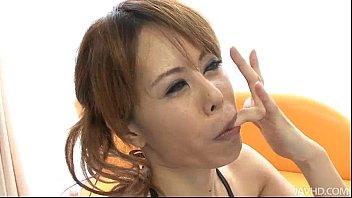 Horny Japanese  Cutie Moe Aizawa Sucking A Bee a Sucking A Beef Snake