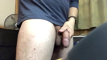 Watch Robert unzip and pull down his bluejeans and go from limp to half erect