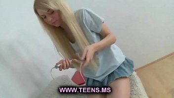Young little teen masturbating