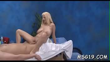 Girl with nice booty gives massage...