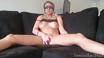 Blindfolded Sam antha Flair Cums Hard Twice s Hard Twice