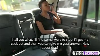 thumb Ebony Passenger Got A Facial By A Driver