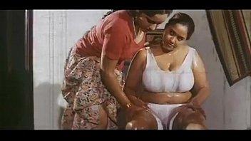Sharmile takes  Oil Massage