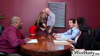 (Nicole Aniston) Girl With Round Big Tits In Hard Style Sex In Office clip-17