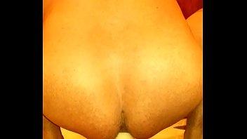 Homemade dildo and anal fuck