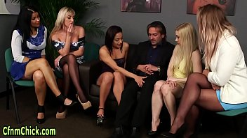 Clothed brit domina blows