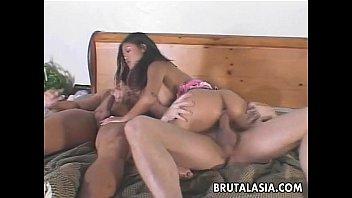 Ravishing Asian  Slut Enjoys A Kinky Threesome Kinky Threesome