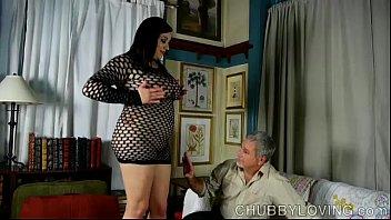 Super Sexy Fatt y In Fishnet Bodysuit Gets Bla dysuit Gets Blasted With Cum