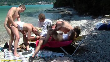 extreme wild german anal family therapy fuck party orgy at the public beach