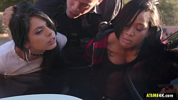 Police Busts Es caping Sluts Gina Valentina, H na Valentina, Honey Gold