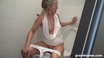 Blonde granny p uts toilet brush up young boys h up young boys asshole