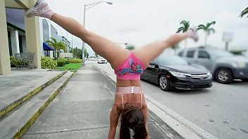 Kelsi Monroe Shakes Her Latin Big Ass All Over The Streets Of Miami