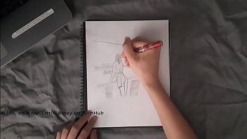 My Little Betsy Strips down to Model for Backstage Animation in Sexy Sketch