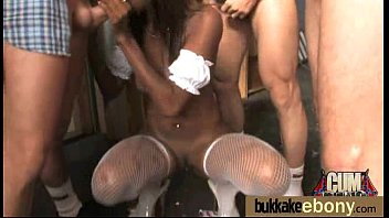 Ebony Babe Sucks Group Of White Guys 15