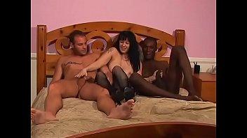Horny white dude fucks black gay stud before fucking sexy babe