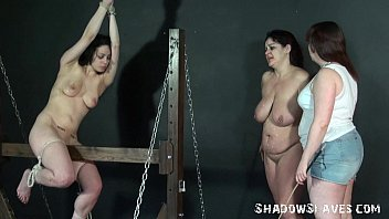 Wooden horse bo ndage and palm spanking of two spanking of two caned lesbian sl