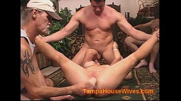 Whoring milf housewife cheats and gang banged
