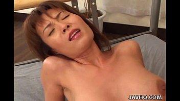 Busty Japanese MILF fucked hard uncensored