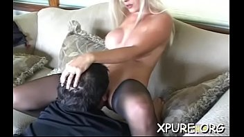 Hot domina smothering a lad with her ass and boobs