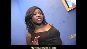 Black Cutie Blows a Cock - Gloryhole Sucking 2
