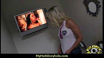 Gloryhole With A Nasty Wild White Girl Interracial 22