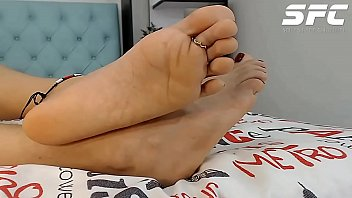 Soles of Maite'_s feet in Colombia