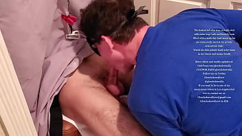 My favorite tall lean furry slim straight stud with big egg shaped balls gets drained at my private oral service chair