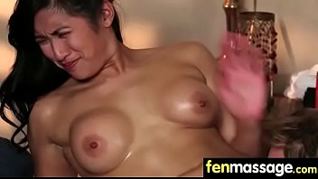Gorgeous Skinny gets a massage 11