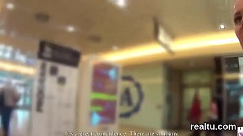 Attractive czech kitten is tempted in the mall and reamed in pov