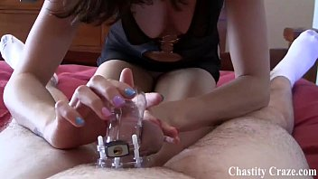 Locking you in chastity for the rest of your life