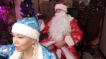 Santa Claus hard and roughly fucks Snow Maiden... #XMAS