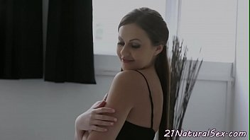 Classy babe spoon fucked and jizzed on tits