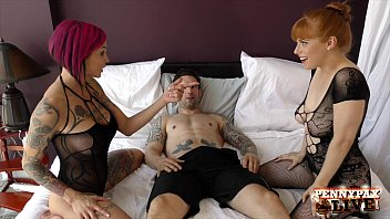 Penny Pax & Anna Bell Peaks Amazing Bodystocking 3Some!