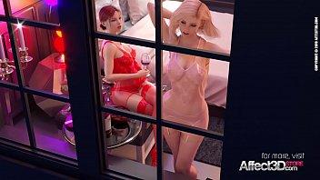 Big Tits Futanari Babes Romantic Sex Animation In Paris