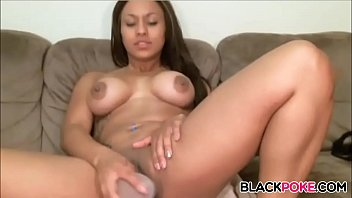 Sexy ebony masturbating