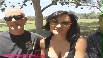 Swingerswatching.com Giant fake titty wife gets plowed hard in front of husband