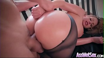 (Brooklyn Chase) Big Butt Oiled Girl Love Deep Hard Anal Sex clip-12