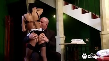 French Maid Ass Fucked Down On All Fours