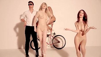 Nude blurred lines girls