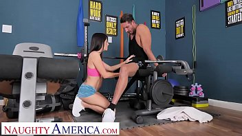 Naughty America Alana Cruise fucks stranger in the gym