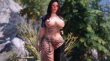 Skyrim Horny Adventurer Convinces A Bandit To Let Her Cross