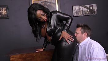 Ebony Fucks Perversely With A Slave
