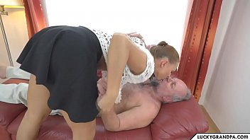 Sex With A Young Coed Comes Home And Fucks With His Grandfather For The Money