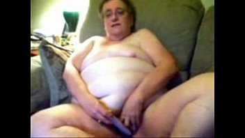 Horny granny likes to be watched while she masturbates. Amateur