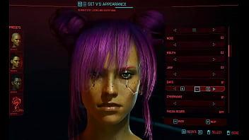 Cyberpunk Female Character Customization