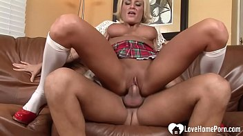 Blonde with big tits gets drilled hard