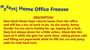 [brazzers] Home Office Freeuse - Xander Corvus, Alexis Fawx - November 27. 2020